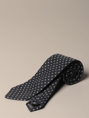 Emporio Armani Tie In Polka Dot Wool