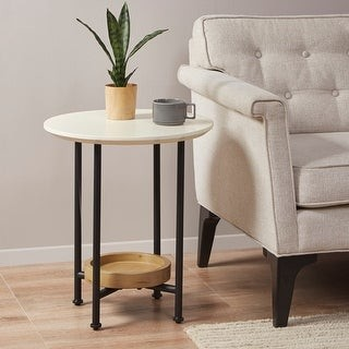 Madison Home USA Beauchamp White/ Natural End Table