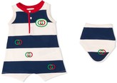 Gucci Kids GG striped shorties and bib set