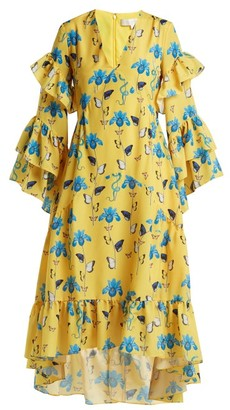 Borgo de Nor Luna Floral Dress - Womens - Yellow Print