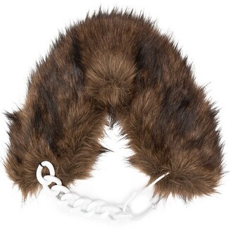 Raf Simons Faux-Fur Chain-Link Detail Collar