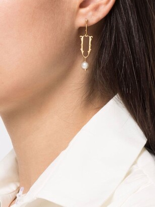 Simone Rocha U initial-pendant single earring