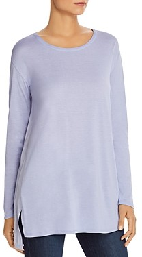 Eileen Fisher Petites Silk Woven-Back Tunic Top