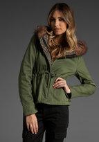 Bradley Reversible Faux Fur Hooded Jacket
