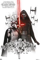 Star Wars Episode 7 Poster Empire Collage (61cm x 91,5cm) + 1 pair of transparent poster hangers