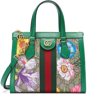 Gucci Online Exclusive Ophidia GG Flora small tote bag