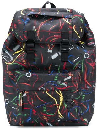 Paul Smith Abstract Print Backpack