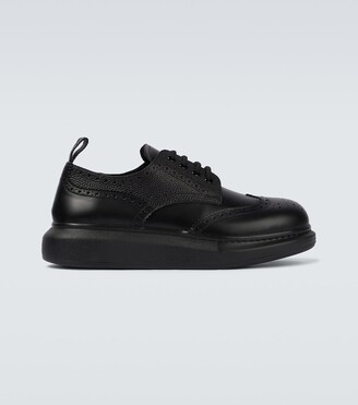 Alexander McQueen Hybrid chunky-sole leather brogues