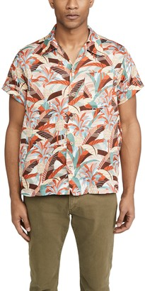 Naked & Famous Denim Jungle Vacation Aloha Shirt