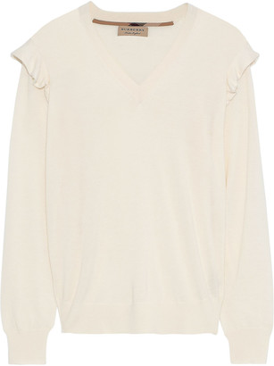 Burberry Ruffle-trimmed Cashmere Sweater