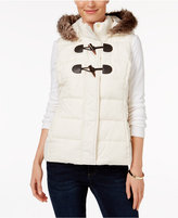Charter Club Petite Faux-Fur-Trim Puffer Vest, Only at Macy's