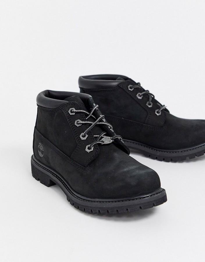 timberland chukka leather black