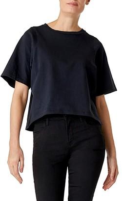 J Brand Lillie Shrunken Short Sleeve Tee (Black) Women's T Shirt