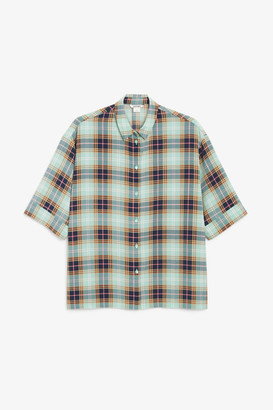 Monki Oversized button-up blouse