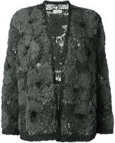 Brunello Cucinelli tweed cardigan - women - Acrylic/Polyamide/Polyurethane/Wool - S