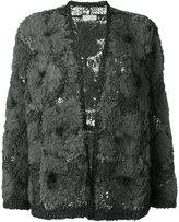Brunello Cucinelli tweed cardigan - women - Acrylic/Polyamide/Polyurethane/Wool - XL