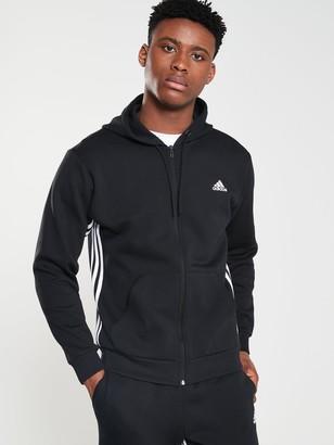 adidas Side 3 Stripe Full Zip Hoodie