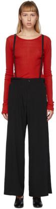 Yohji Yamamoto Black Suspender Trousers