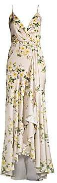 Jay Godfrey Women's Edna Floral Ruffled Slip Gown - Size 0