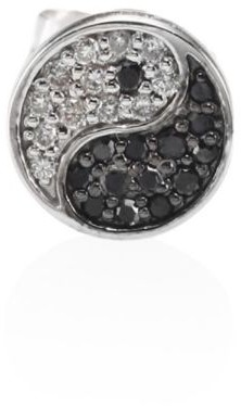 Sydney Evan Yin-Yang Black & White Diamond Single Stud Earring