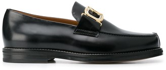 Lanvin Gold Buckle Slip-On Loafers