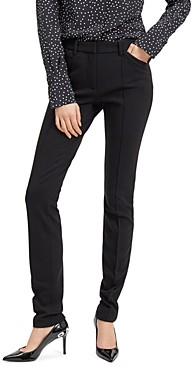 Barbara Bui Roxy Pin-Tucked Slim-Leg Pants