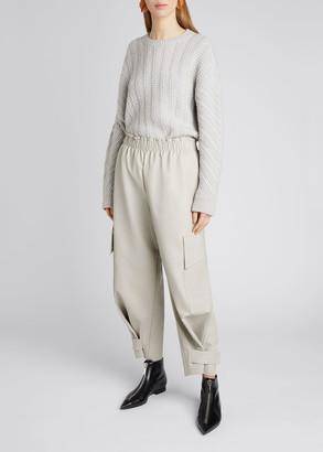 Stella McCartney Faux-Leather Tabbed-Cuff Pants
