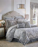 Croscill Seren 4-Pc. Chenille Damask Jacquard Queen Comforter Set Bedding