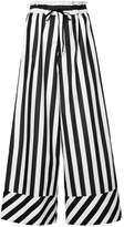 G.V.G.V. striped drawstring waist flared trousers