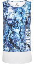 River Island Boys blue marble print tank