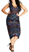 City Chic Plus Size Women's Mystery Woman Zip Front Jersey Dress