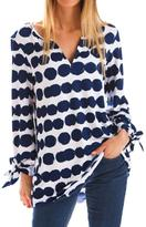 Evergreen Feather Ink Dot Tunic