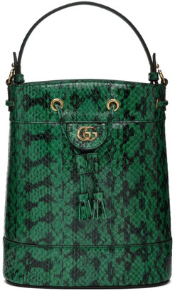Gucci Green Snake Ophidia Bucket Bag