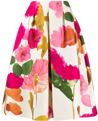 La DoubleJ x Mantero Macaron floral flared skirt