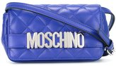 Moschino logo quilted crossbody bag