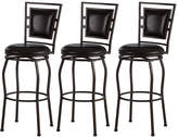 Asstd National Brand Trenton Set of 3 Adjustable Swivel Barstools
