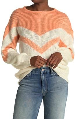 ALL IN FAVOR Chevron Pullover Sweater