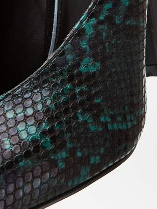 Very Season Half Snake Pointed Ankle Strap Court