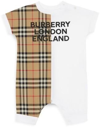 Burberry Baby's Lennox Plaid Romper
