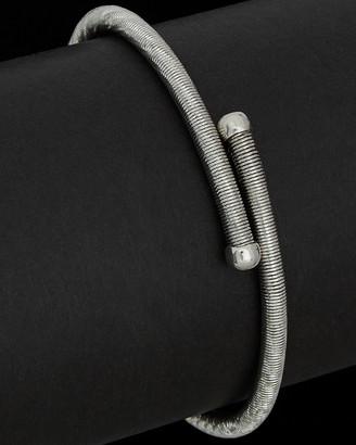 Italian Silver Rhodium Plated Adjustable Bangle Bracelet