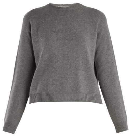 Valentino Open Back Cashmere Sweater - Womens - Grey
