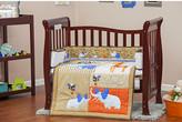 Dream On Me Jungle Babies Portable 3 Piece Crib Bedding Set