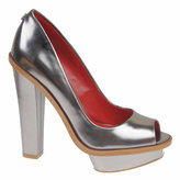 CHARLES JOURDAN Cyndi Metallic Leather Pumps