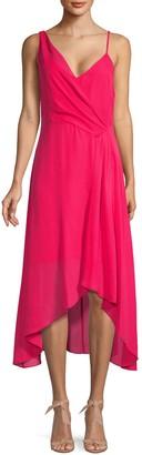 Parker Drape High-Low Midi Dress