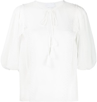 Noon By Noor Monmouth beaded blouse