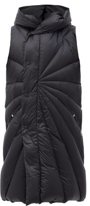 Moncler + Rick Owens Porterville Hooded Padded Down Gilet - Black