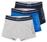 HUGO BOSS Kids' boxer shorts in stretch cotton in a triple pack: 'J27061'