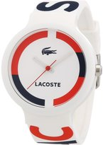 Lacoste Men's Goa 2020030 Silicone Analog Quartz Watch with Dial