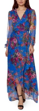 Betsey Johnson Printed Mesh Maxi Dress