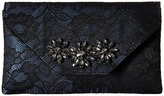 Jessica McClintock Riley Lace Envelope Clutch with Brooch Clutch Handbags